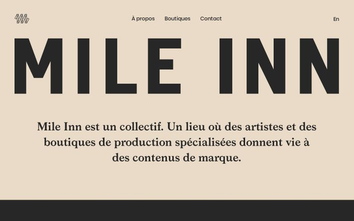 Screenshot of Mile Inn | Collectif
