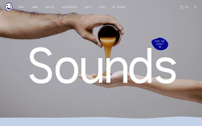 Screenshot of Sounds Brooklyn website