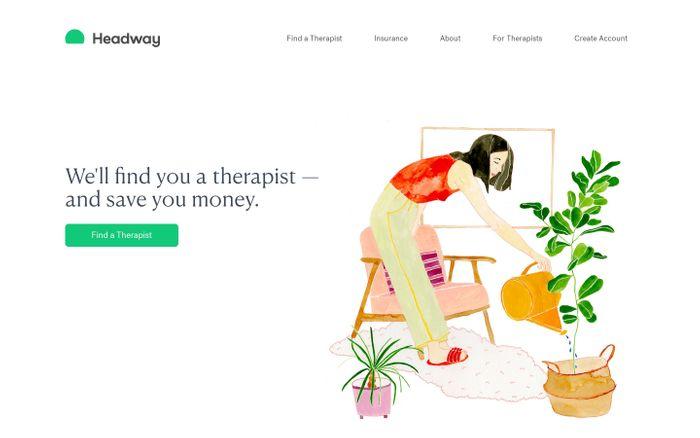 Screenshot of Headway website