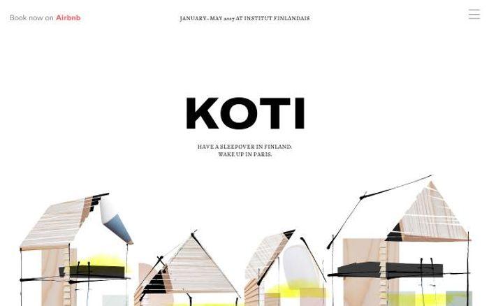 Screenshot of Kotisleepover website
