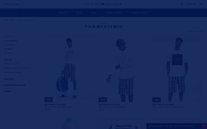 Screenshot of TOMMYXLEWIS for men | Tommy Hilfiger UK