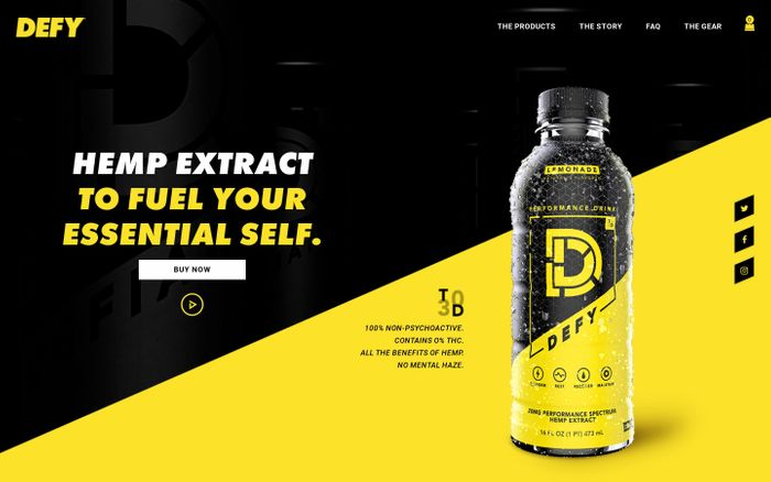 Screenshot of DEFY Performance Drinks | Defy the Everyday – Drink Defy