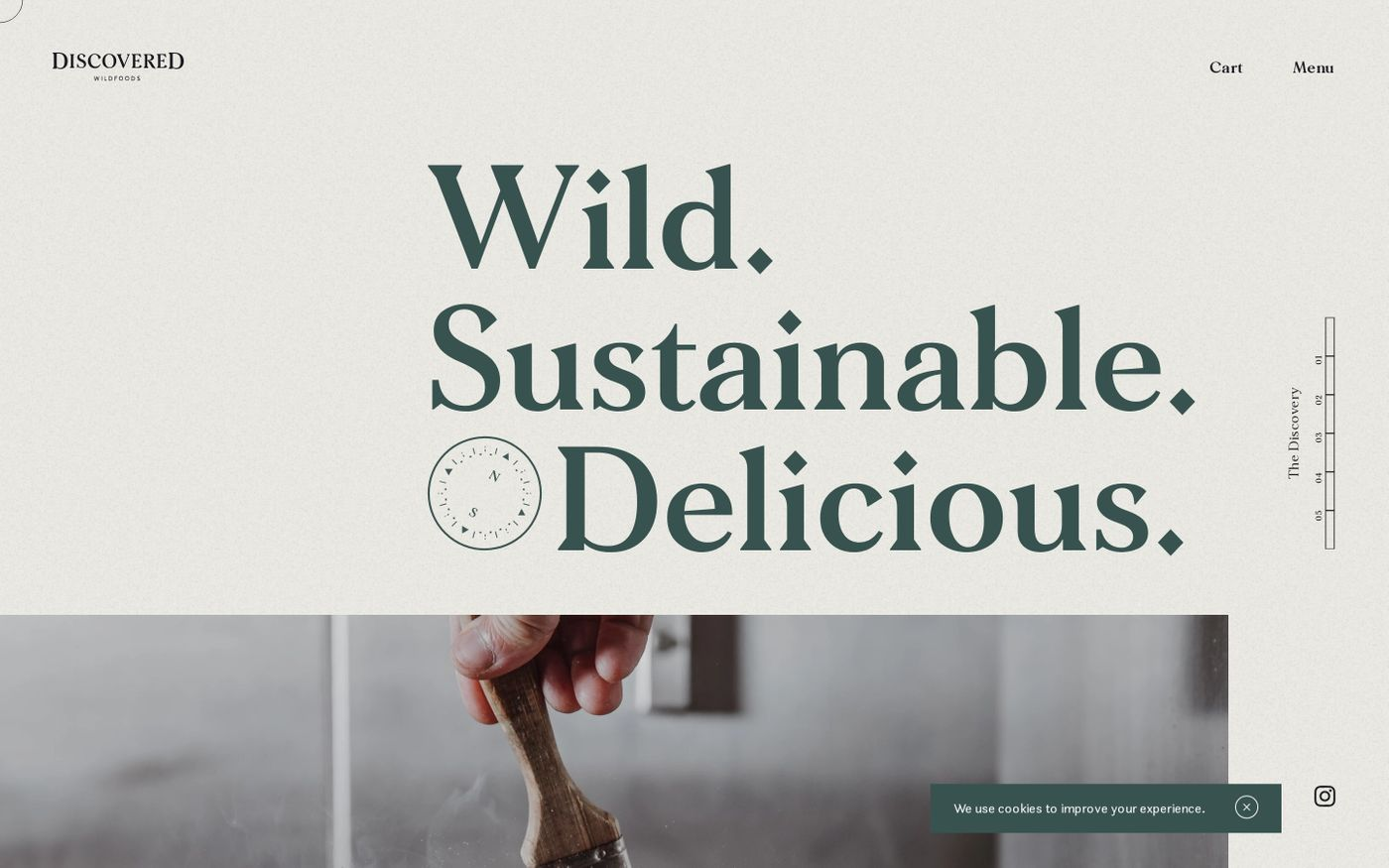 Screenshot of Discovered Wildfoods website
