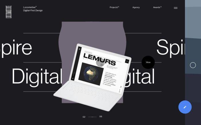 Screenshot of Locomotive — Montreal Web Agency