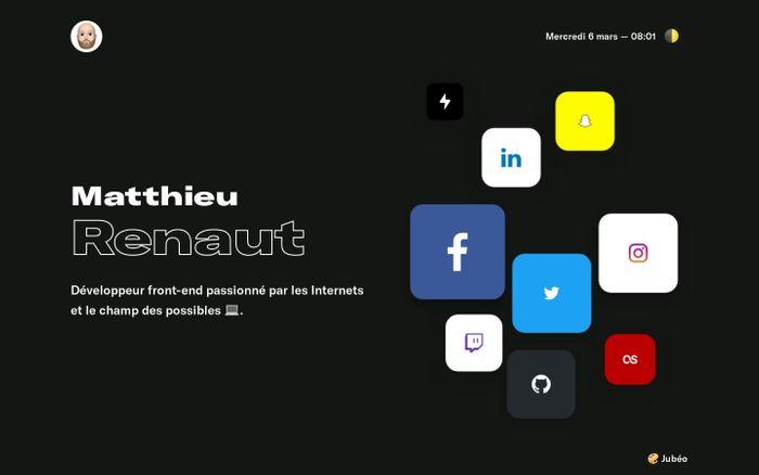Screenshot of Matthieu Renaut - Développeur Front-end