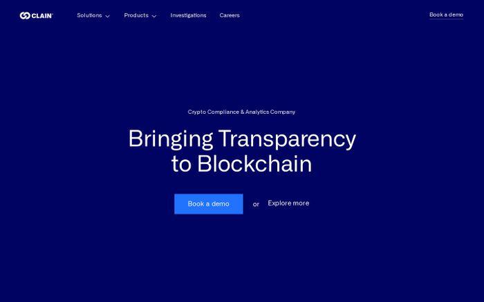 Screenshot of Clain website