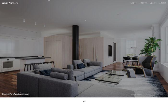 Screenshot of Explore | Spivak Architects