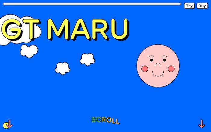 Screenshot of GT Maru Typeface website