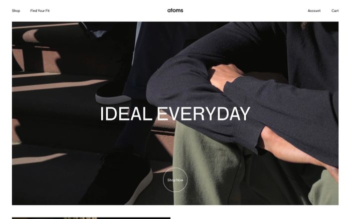 Screenshot of Atoms – Ideal Everyday Shoes