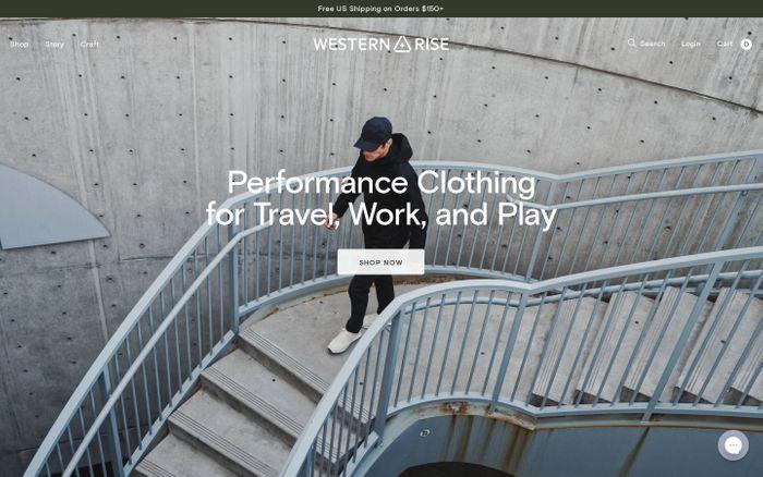 Screenshot of Western Rise website