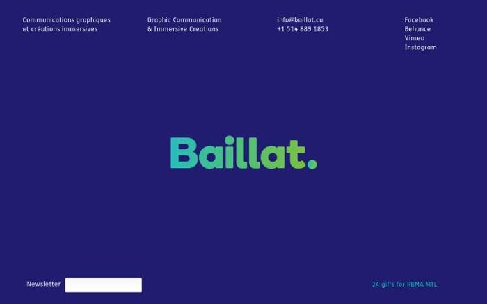 Screenshot of Baillat website