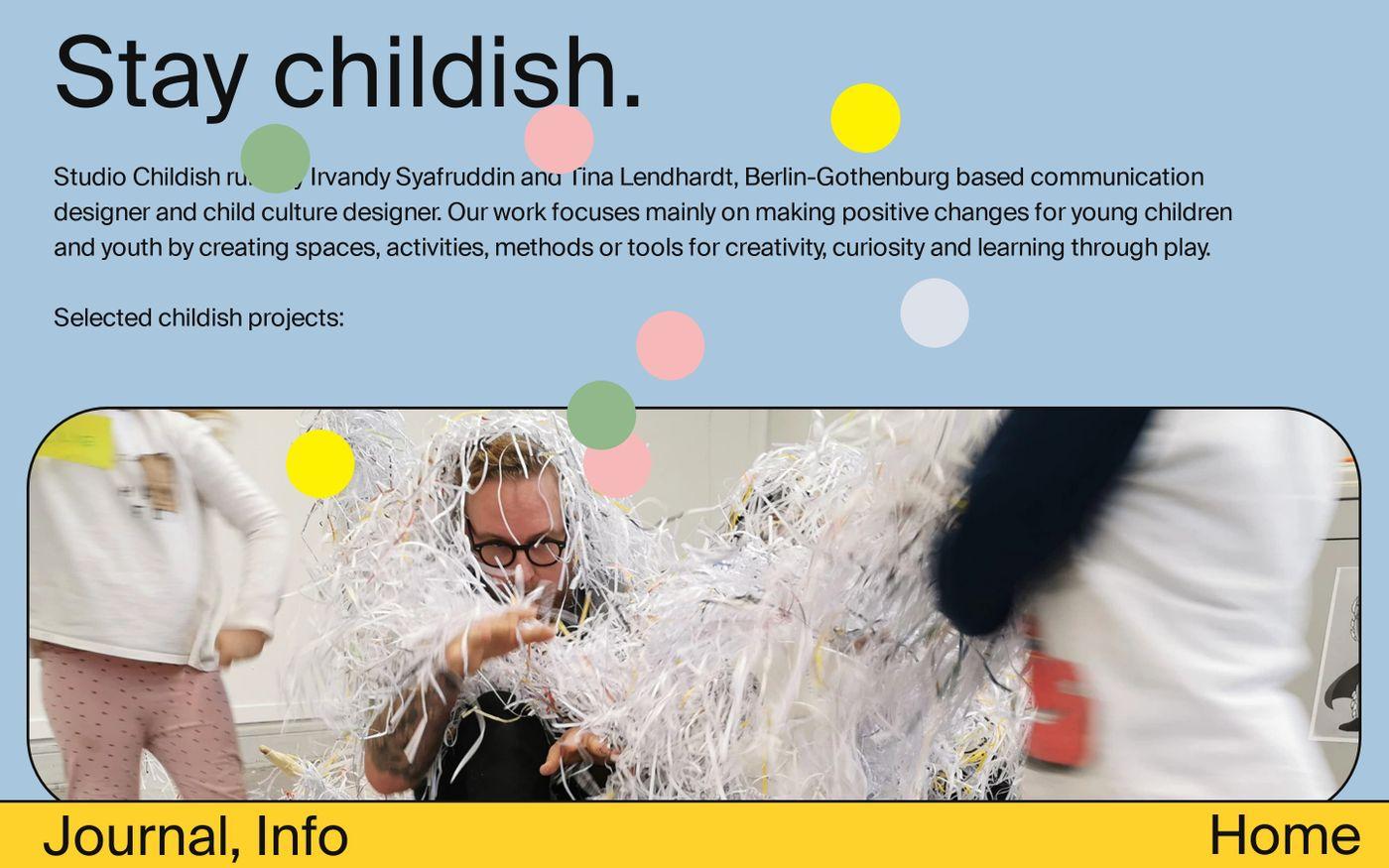 Screenshot of Studio childish website