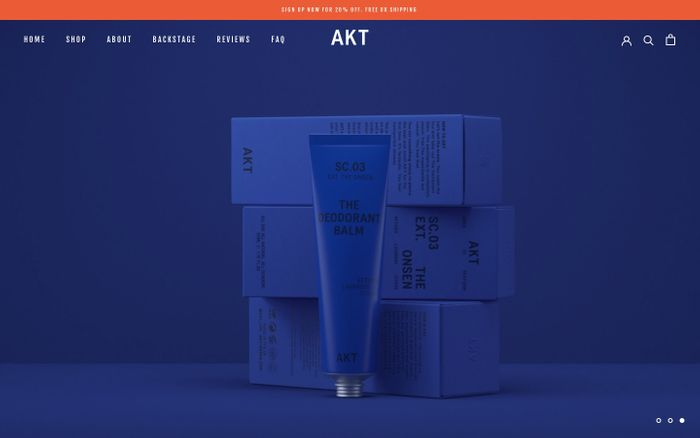 Screenshot of Akt Deodorant