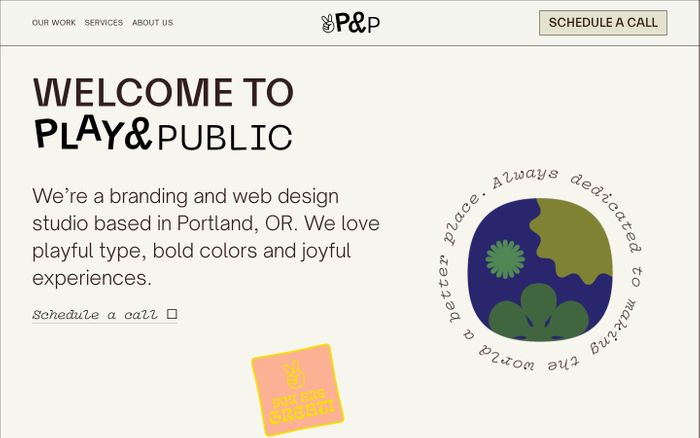 Screenshot of Play & Public website