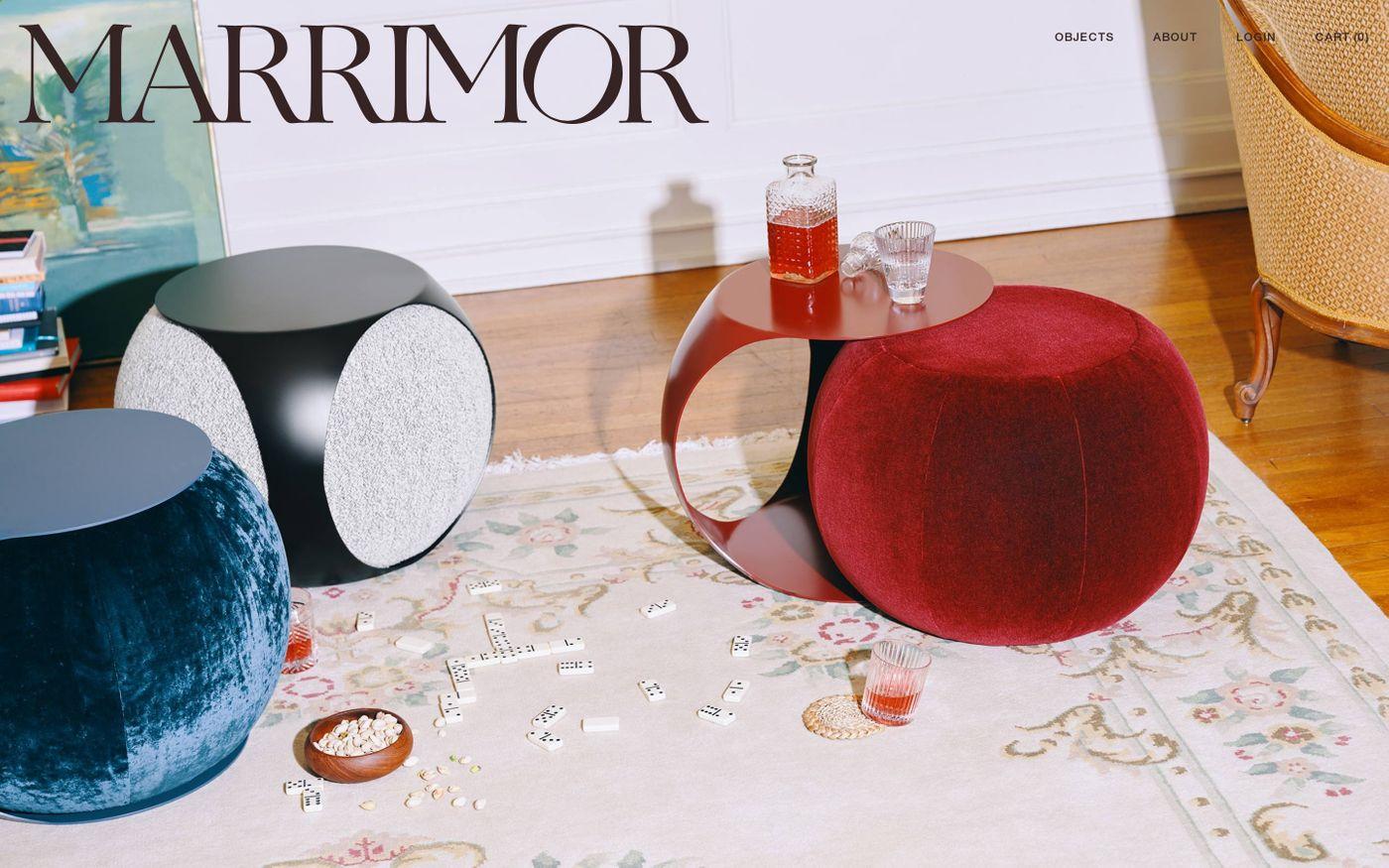 Screenshot of Marrimor website