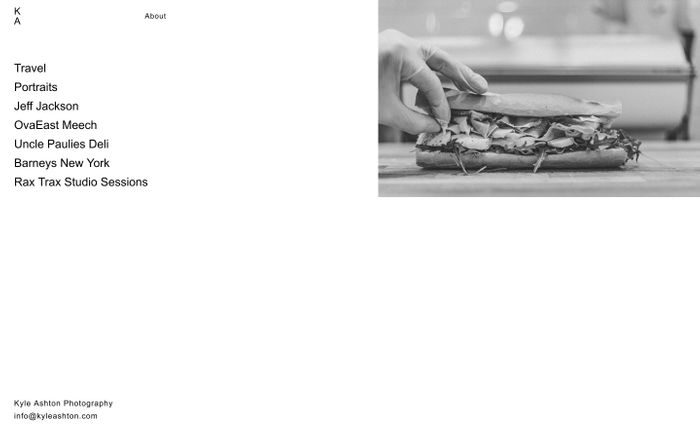 Screenshot of Kyle Ashton Photography – Portfolio