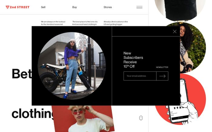 Screenshot of 2nd STREET USA   Second Hand Clothing Store - Buy & Sell Clothes   2nd Street