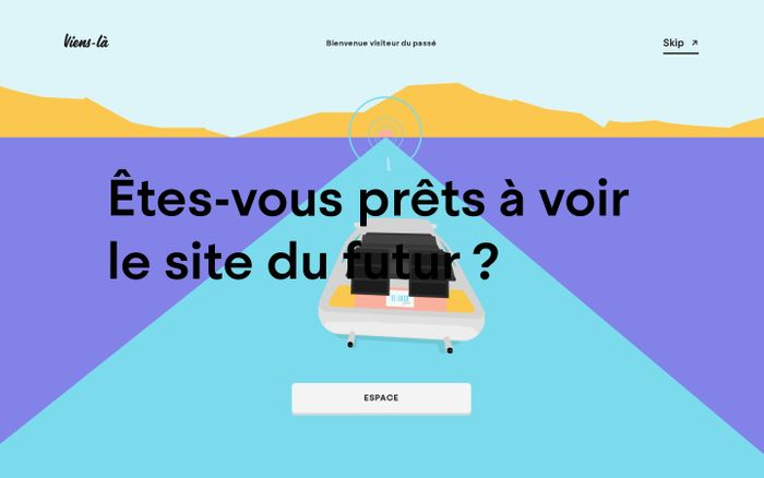 Screenshot of Viens-la - Studio Créatif, branding & digital website