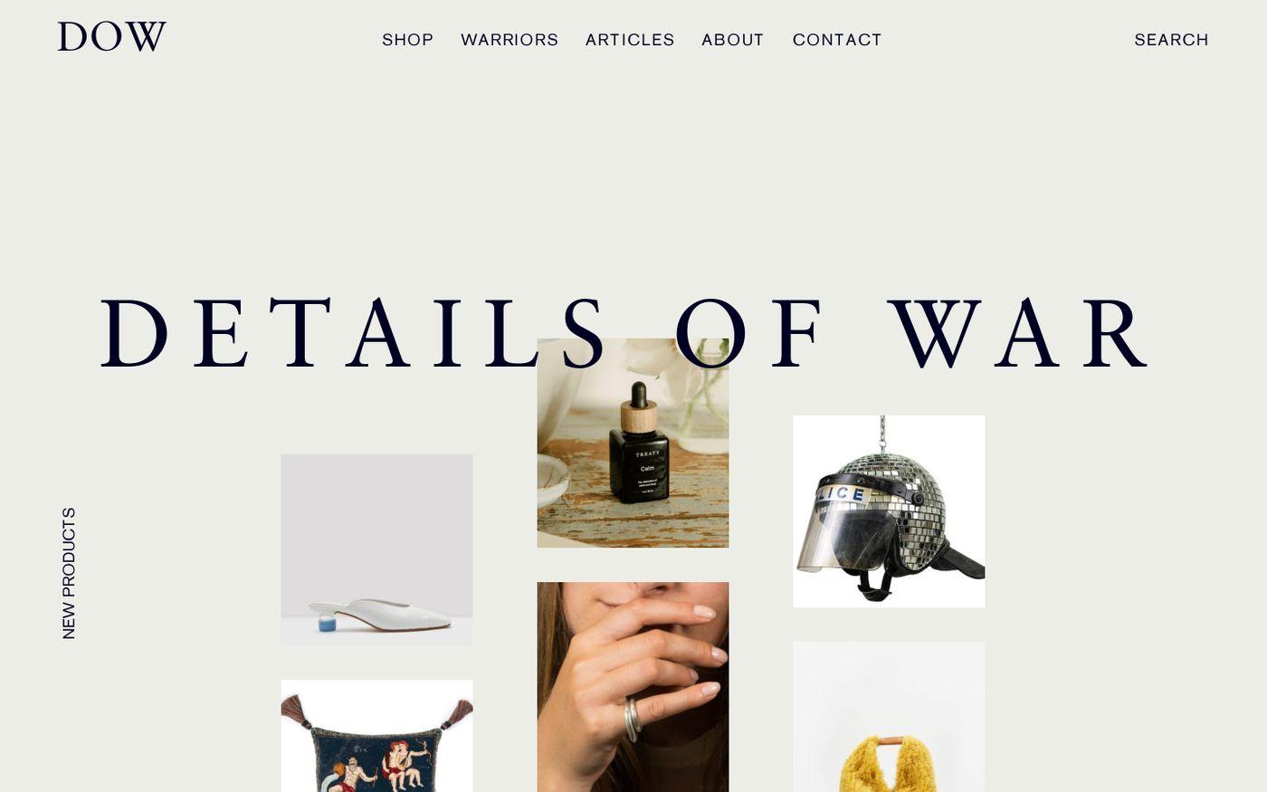 Screenshot of Details of war website