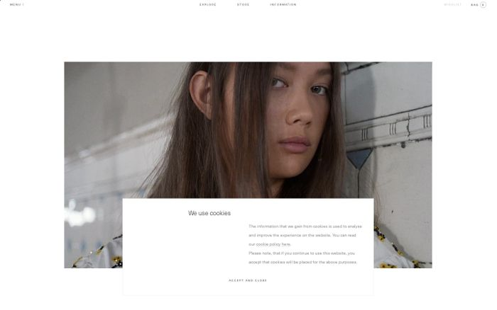 Screenshot of Cecilie Bahnsen – Official website & online store