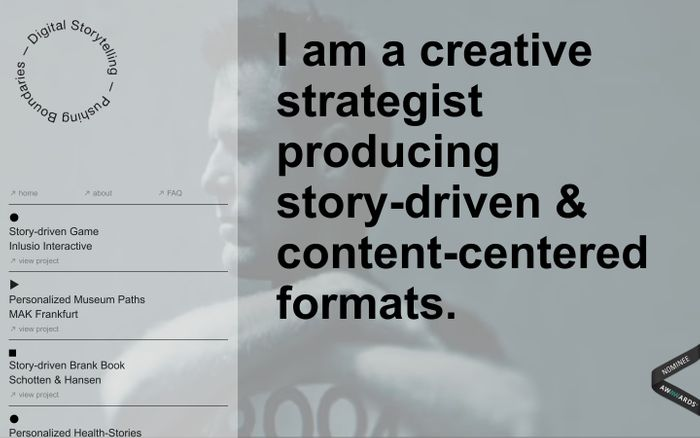 Screenshot of Studio Digital Storytelling