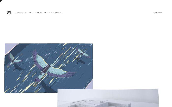 Screenshot of Dorian Lods   Interactive Developer