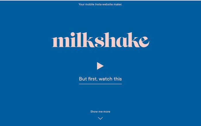 Screenshot of Milkshake | Insta Website Maker