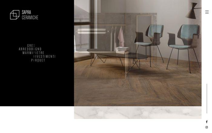 Screenshot of Sapra Ceramiche - Posa e vendita di ceramiche, legni e gres a Brescia