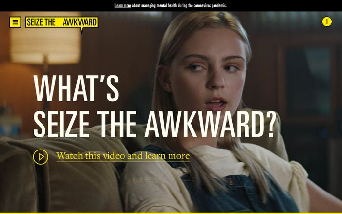 Screenshot of Seize The Awkward - Talking to your friends about mental health and how to help
