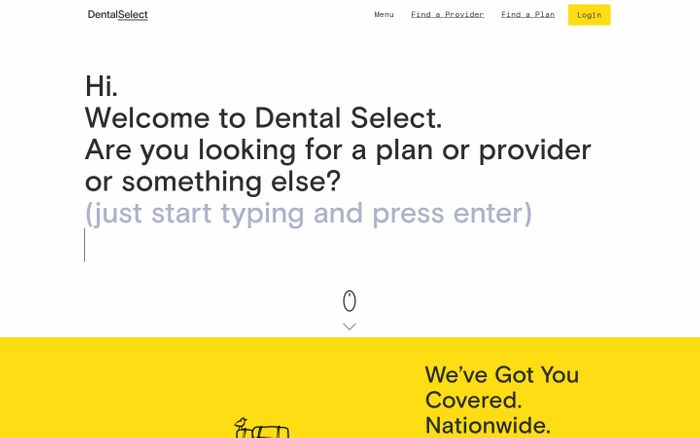 Screenshot of Dental Select – The Leader in Dental Benefits