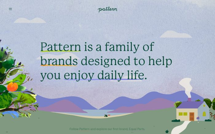 Screenshot of Our  Pattern Brands