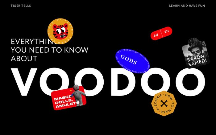 Screenshot of Tiger Tells | Everything You Need to Know About Voodoo website