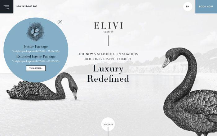 Screenshot of 5 Star Luxury Resort in Skiathos | Elivi Hotels Skiathos