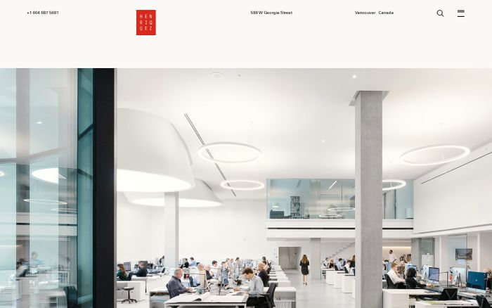 Screenshot of Home – Henriquez Partners Architects
