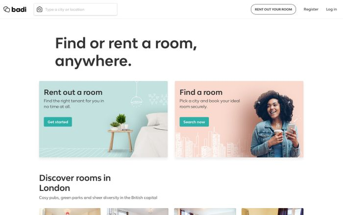Screenshot of Badi - Rooms for rent and roommates
