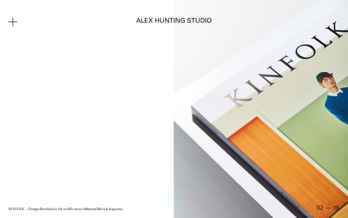 Screenshot of Alex Hunting Studio website