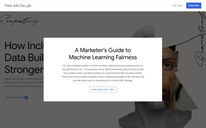 Screenshot of A guide to machine learning (ML) fairness - Think with Google