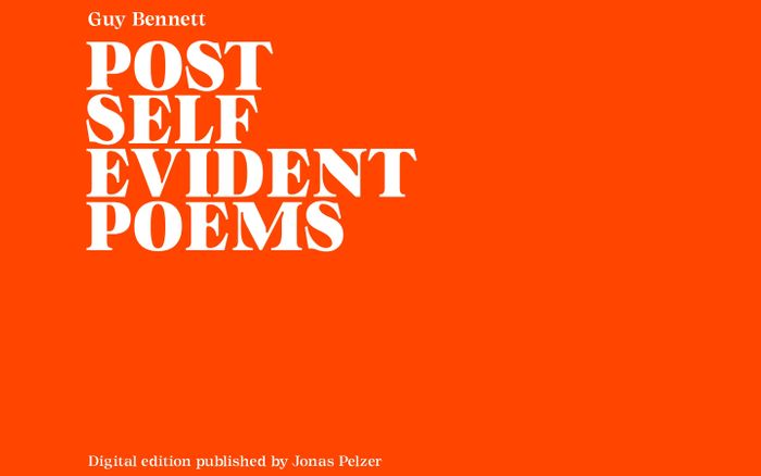 Screenshot of Post-Self-Evident Poems