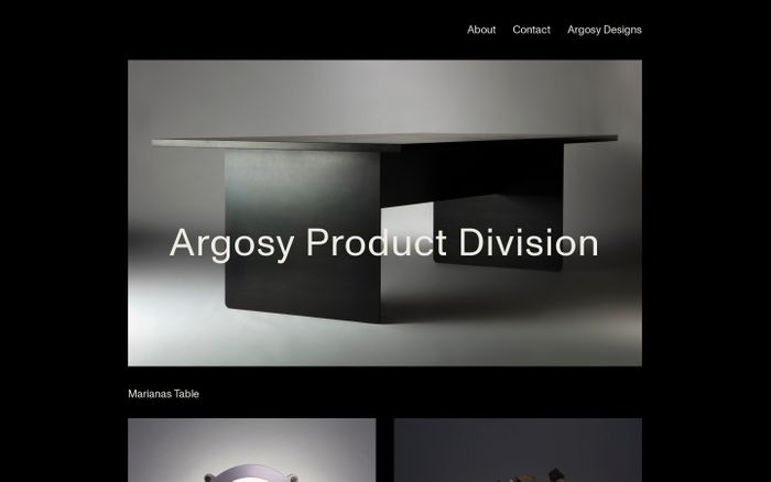 Screenshot of Argosy Product Division