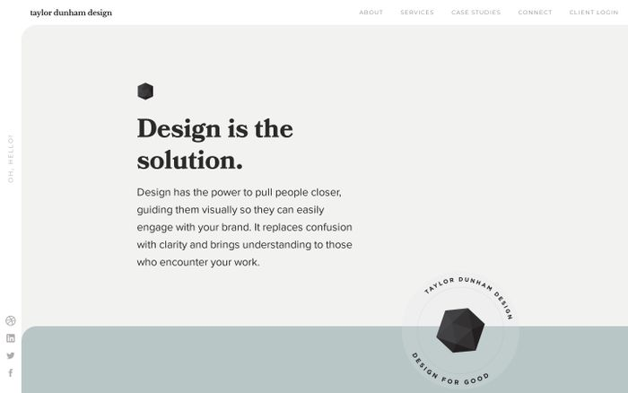 Screenshot of Taylor Dunham Design website
