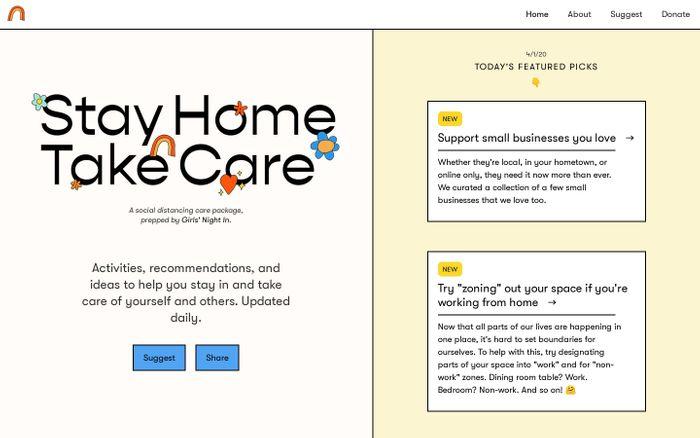 Screenshot of Stay Home, Take Care