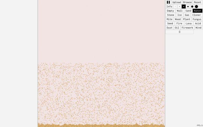 Screenshot of sandspiel