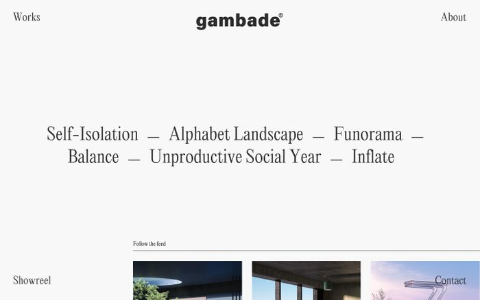 Screenshot of Gambade website