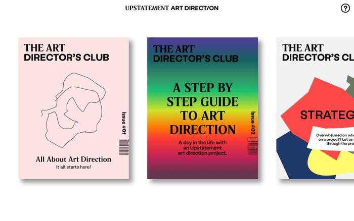 Screenshot of Art Director's Club / Upstatement Art Direction