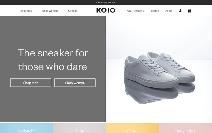 Screenshot of Handcrafted Italian leather sneakers – KOIO