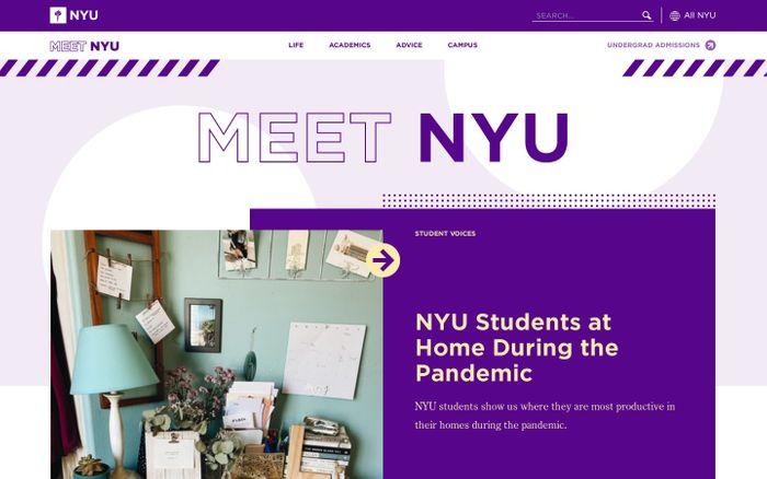 Screenshot of MEET NYU - Home