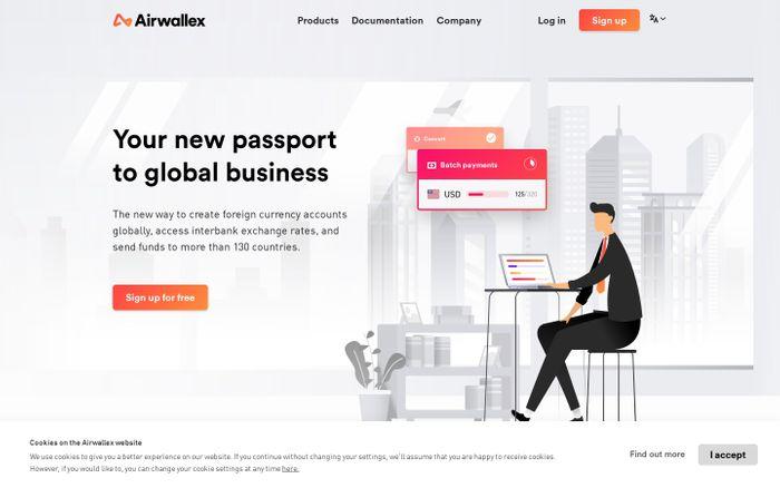 Screenshot of Forex Cross-Border Payment Solutions for Business | Airwallex