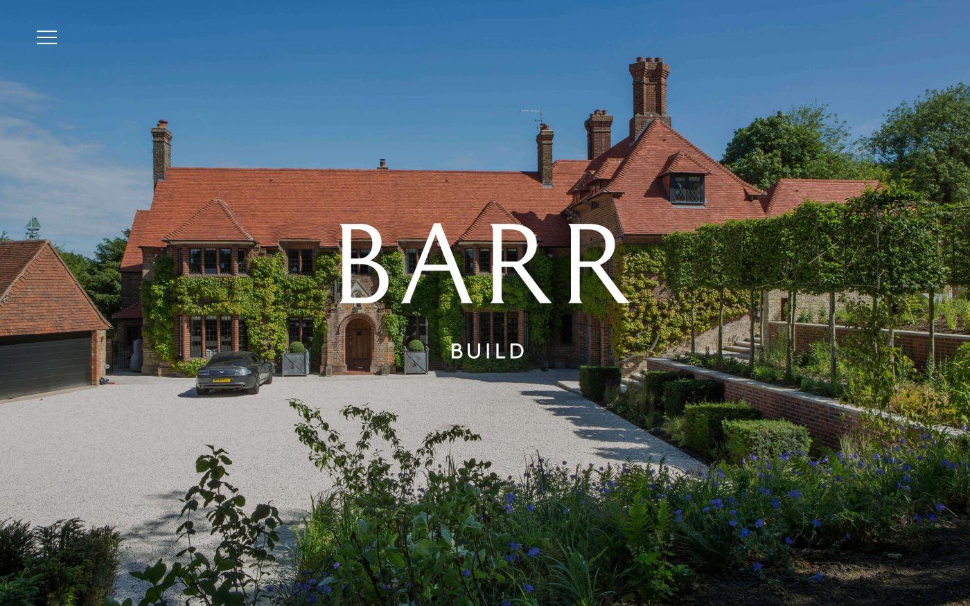 Screenshot of Barr Build website