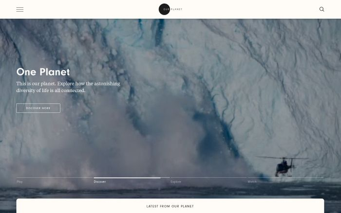 Screenshot of Our Planet | Our Planet