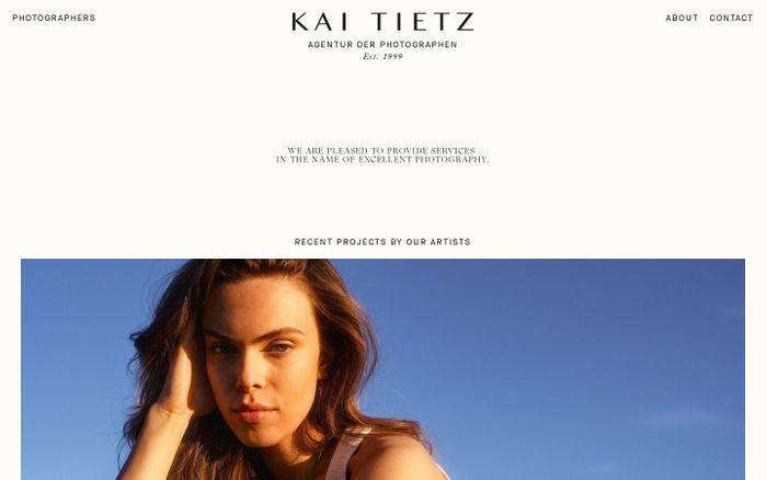 Screenshot of Kai Tietz website